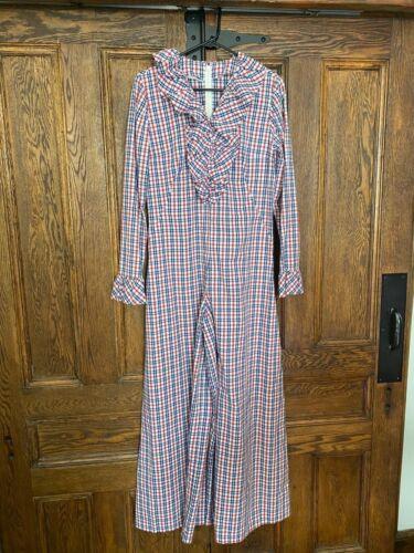 Vintage Plaid Cotton Jumpsuit