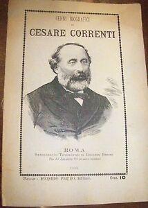 CESARE CORRENTI libretto con  cenni biografici - ROMA 1888 patriota e politico