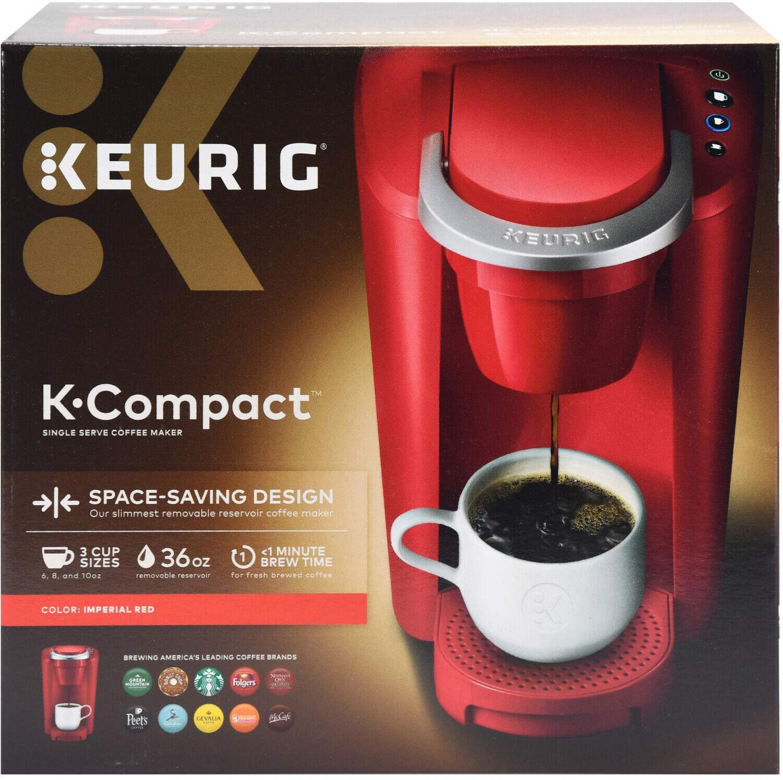 Rouge Keurig K-tasse cafetière K-COMPACT simple servir de comptoir de cuisine Brewer