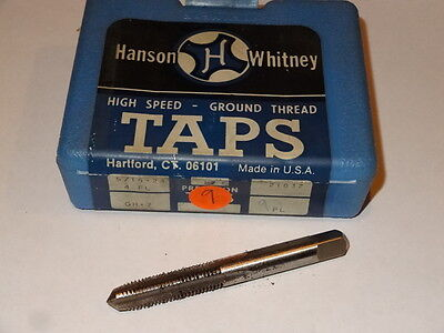 2 new HANSON WHITNEY 1//4-28 UNF GH-1 H1 4FL 4-Flute Plug Hand Taps 20627 USA