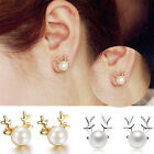 Fashion Xmas Gift Deer Earrings Women Rhinestone Crystal Ear Stud Party Jewelry