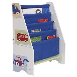 Jungen Fahrzeug Muster Riemen Bücherschrank Kinder Möbel Aufbewahrung Neu