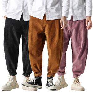 Men-039-s-Fashion-Harem-Trousers-Jogger-Pants-Loose-Classic-Casual-Hip-Hop-Corduroy