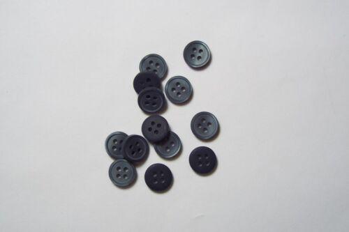 10pc 10mm blu grigio Cardigan Camicia Pantalone Bambino Baby pulsante 0619