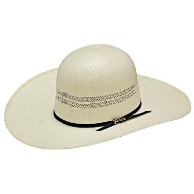 Twister Western Cowboy Hat Mens Bangora Open Ivory Tan T71626