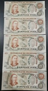 PHILIPPINES-5PCS-10-PESOS-ABL-ANG-BAGONG-LIPUNAN-MARCOS-LICAROS-UNC-2