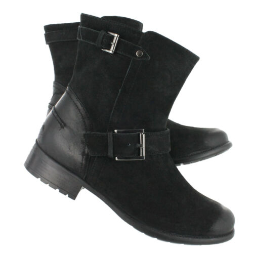 Clarks Plaza Float Black Distressed Leather Women/'s Casual Boots Style# 26101962