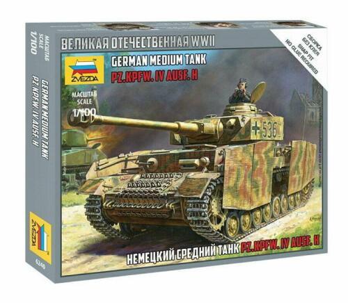 German Medium Tank Panzer IV Ausf.H   1:100  Zvezda 6240 New !