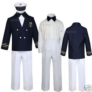 Baby Boy Toddler Captain Sailor Suits Formal Party Gift ...