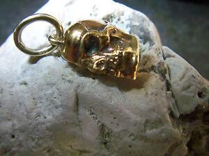 gold 12,1 Gramm Jade Weiß Wmm Werner Mülleer Exlusiver Totenkopf Designer Anhänger 585er