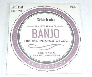 D'addario Banjo Cordes Ej60+ (formulaire J60+) Nickel Steel Light Plus-afficher Le Titre D'origine