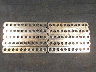 6 Clean VTG Details about  /Gilbert Erector J 41 HOLE STRIP : 1951-62 Cadmium Plated lot of