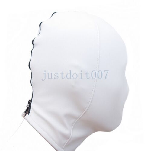 Soft Pu Leather Mask Hood With Breathing Hole Slave suffocated head deprivation