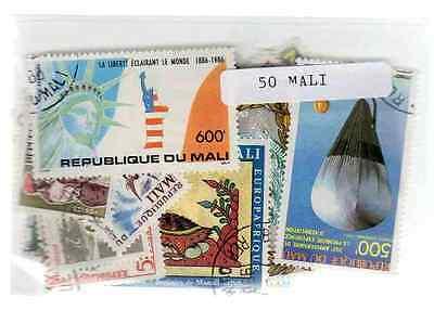 2019 Mode Mali 50 Briefmarken Unterschiedliche