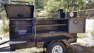 Mini-RibMaster-Mobile-BBQ-30-Grill-Smoker-Trailer-Food-Truck-Vending-Concession