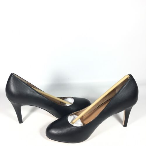 piel M clásico de Corso con redonda Tacones punta y Tamaño Como tacón seda negra Del mujeres de de las 9 q0aSgwq