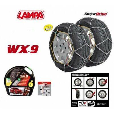 Catene da Neve 9mm Lampa WX-9 Omologate Gruppo 12 pneumatici 255//35r18 GD02019