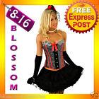 5119 Burlesque Moulin Rouge Corset & Skirt 8 10 12 14
