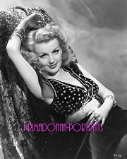 DOLORES MORAN 8X10 Lab Photo B&W 1940s Sexy Fringe Style Top, Glamour Portrait
