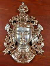 Bronze Tara Tibetan Goddess Statue Sculpture Figure Buddha Meditation  Mask