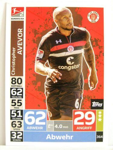Match Attax 2018//19 Championnat #364 Christopher avevor-FC St Pauli