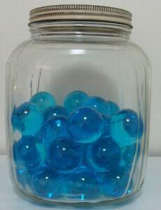 Marbles-1-Light-Blue-Glass-Tranparent-Jewel-Gem-1-1-2-Boulder-Free-Ship-Pretty
