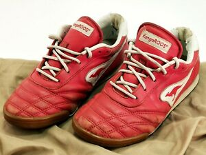 KANGAROOS Indoor Soccer Shoes Vtg Red White Leather  SNOOP TBC US Men's Sz 7