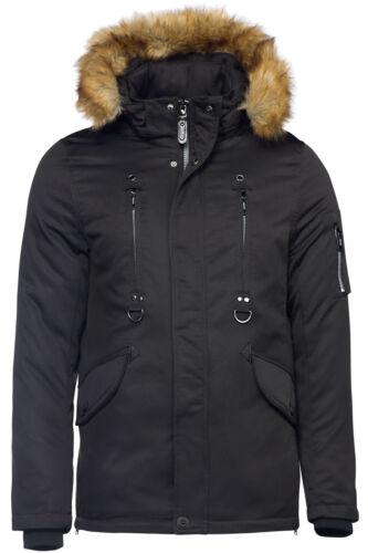Parka Heren lang bont Waterdicht gevoerd Alaska winterjas Hooded Warm q7qfxtHw4
