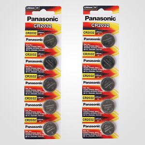Panasonic Cr2032 3v Lithium Battery 2pack X 5pcs 10