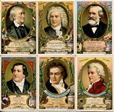 Chromo Liebig Sang. 374 ITA Compositori Celebri (grandi medaglioni) ANNO 1893