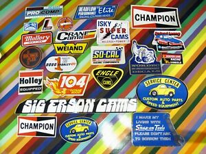 vtg 1970s to 1990s Auto Racing sticker Crower Motor Wheel Arias Duro Daytona+