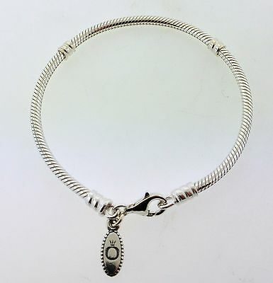 590700HV-18 Authentic Pandora Sterling Silver Lobster Clasp Bracelet 7.1 **NEW**