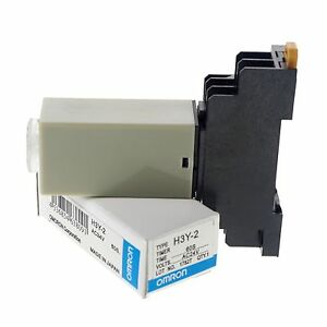 24VAC-Max-60S-H3Y-2-Power-On-Time-Delay-Relay-Solid-State-DPDT-8-Pins-Base