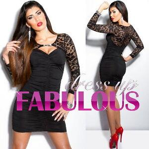 NEW-SEXY-8-10-WOMEN-039-S-LACE-DRESS-COCKTAIL-CLUBBING-EVENING-UNIQUE-POPULAR-S-M