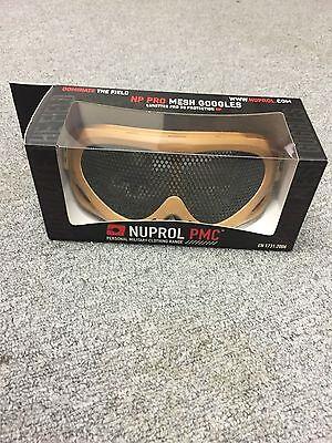 Laborioso Nuprol Pro Mesh Goggles Occhiali Di Protezione Tan Nuovo Di Zecca- Ampia Fornitura E Consegna Rapida