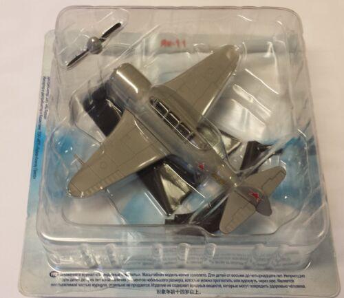 Legendäre Flugzeuge,De Agostini NEU Fertigmodell aus Metall Jak-11