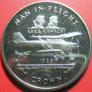 1995-ISLE-OF-MAN-1-CROWN-034-ABE-amp-KAWACHI-034-TOKYO-PARIS-AIRPLANE-1925-no-silver