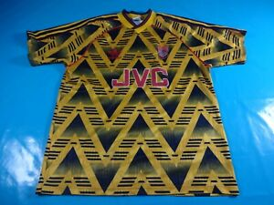 Authentic-VINTAGE-1991-93-Arsenale-brusied-Bannana-FOOTBALL-SHIRT-JERSEY-38-40-Medium