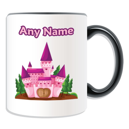 Personalised Gift Pink Castle Mug Money Box Cup Fairy Tale Name Message Love Tea