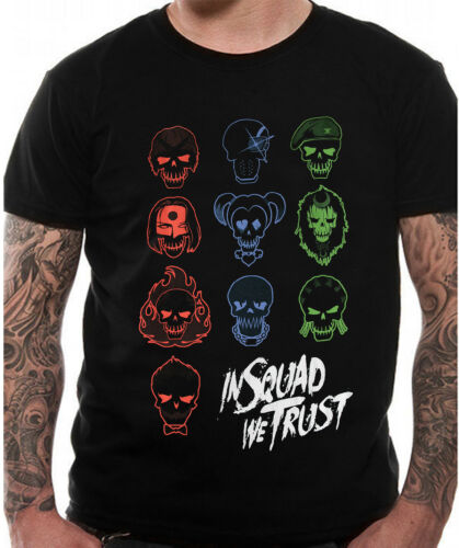 Official Suicide Squad Icons In Squad We Trust T-shirt NEW Black DC Comics