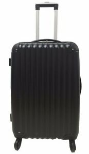 Tesco-4-Wheel-Hard-Shell-Black-Medium-Case-New