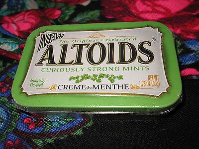 RARE!! Discontinued One Sealed collectors Tin ALTOIDS Creme de Menthe Mints