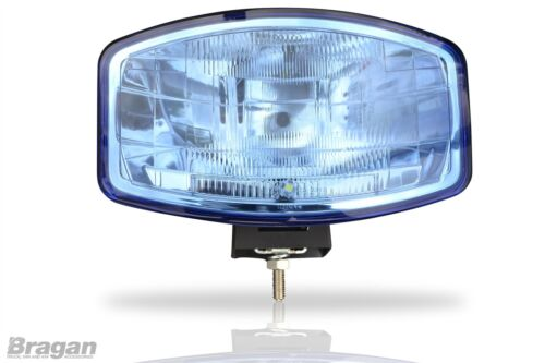 "To Fit Scania Volvo DAF MAN 24v 9.5/"" Jumbo Oval Blue ABS Spot Light Lamp LED"