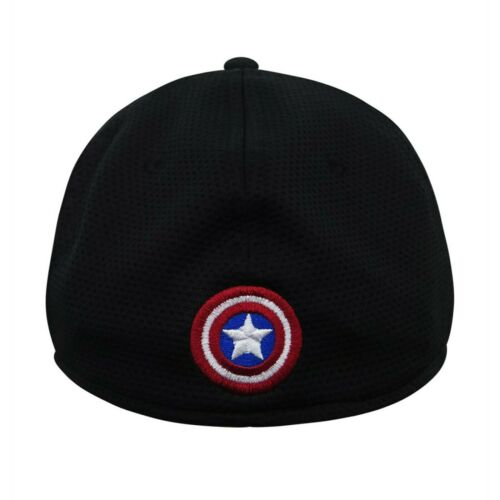 Captain America Shield Noir 39 thirty Fitted Hat Black