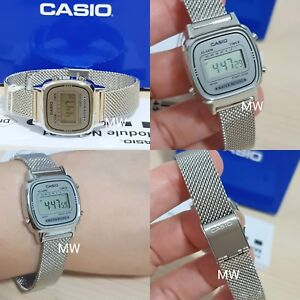 4751d542652 Image is loading Casio-LA670WEM-7D-LA670WEM-Ladies-Vintage-Retro-Digital-
