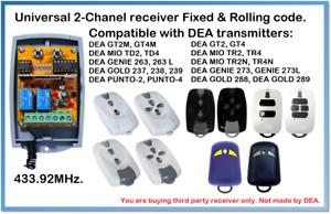 DEA Compatible Universal 2-Channel receiver 12-24V AC//DC 433.92MHz.