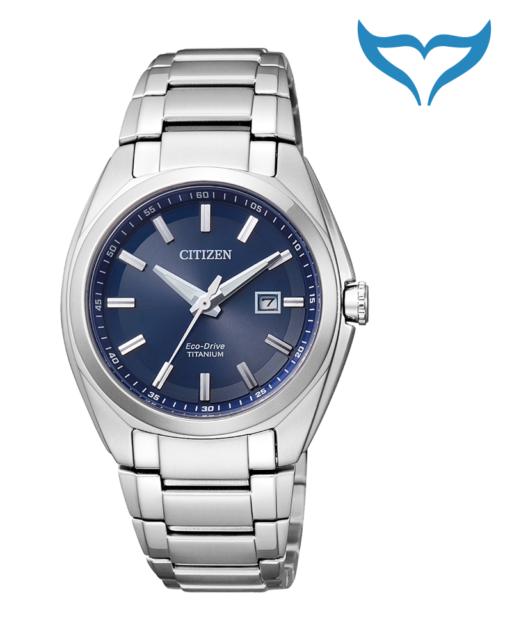 Citizen Super Titanium Damen Armbanduhr EW2210-53L Saphir Eco-Drive Damenuhr NEU