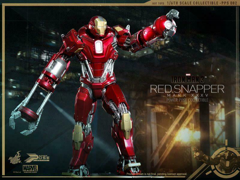 Hot Toys Iron Man 3: Red Snapper (Power Pose Series) 1:6 scale HT-902042 on eBay thumbnail
