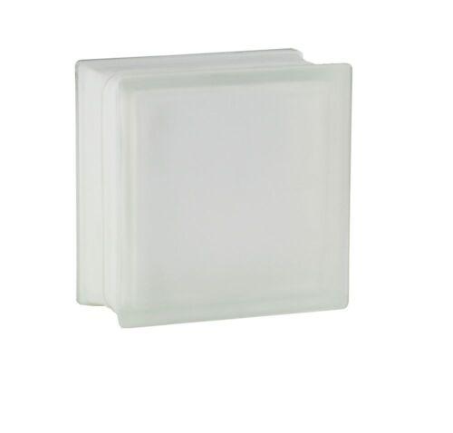 4 Stück Fuchs Glasbausteine Glassteine Vollsicht 2-seitig satiniert 19x19x10 cm