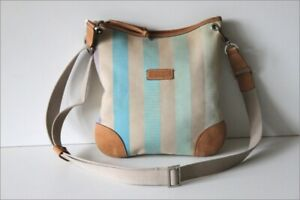 LONGCHAMP-Sac-Sacoche-Besace-Tissu-Multicolore-Pastelle-Bandouliere-TBE